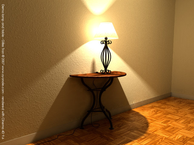 Lamp and table