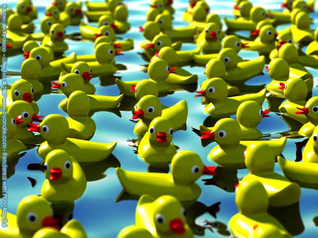Canard en plastique