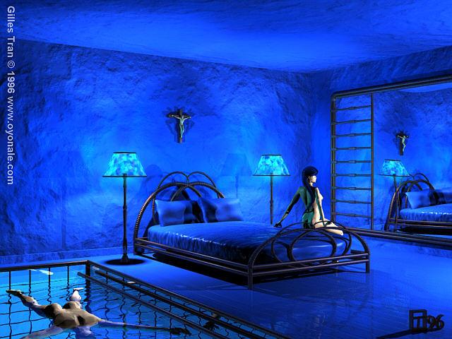 chambre bleu - Chambre Orientale Bleue