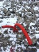 Plastic pipes in the snow